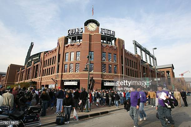A general view of Coors Field prior to Game Three of the 2007 World Series beteen the Boston Red Sox and the Colorado Rockies on October 28 2007 at...