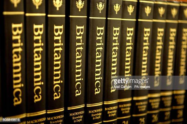A general view of copies of the Encyclopaedia Britannica