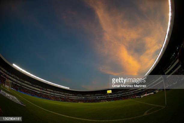 General view of Corregidora Stadium during the 7th round match between Queretaro and Atletico San Luis as part of the Torneo Clausura 2020 Liga MX at...