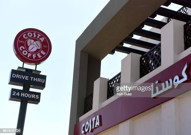 General view of Costa Coffee drive thru 24 hours store on April 5 2017 in Dubai United Arab Emirates