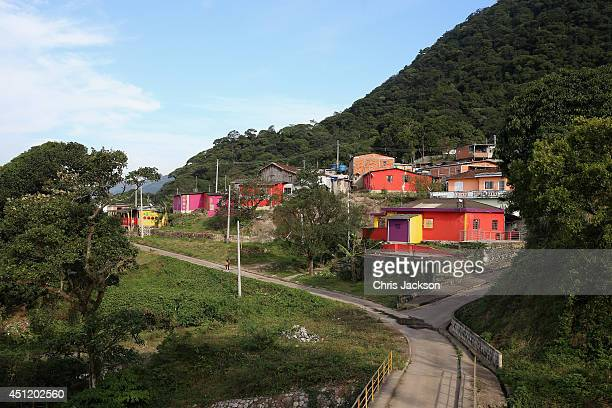 A general view of Cota 200 a small village in the Brazilian Atlantic Rainforest on June 25 2014 in Cota 200 Brazil Prince Harry is on a four day tour...