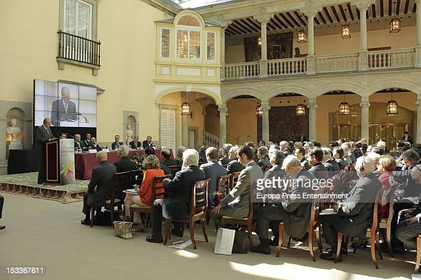 A general view of COTEC Europa Meeting at Palacio El Pardo on October 3 2012 in Madrid Spain