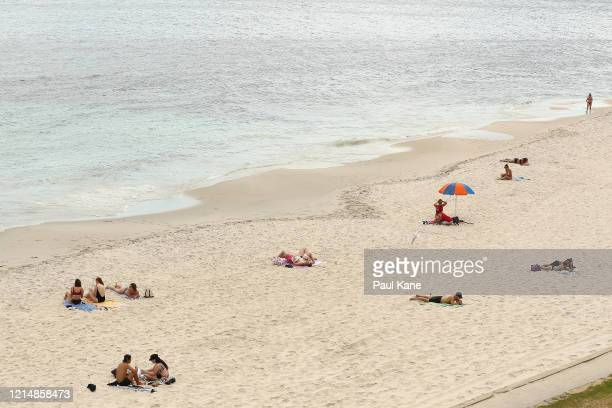 A general view of Cottesloe Beach on March 26 2020 in Fremantle Australia Further restrictions on travel and movement have been put in to place as...