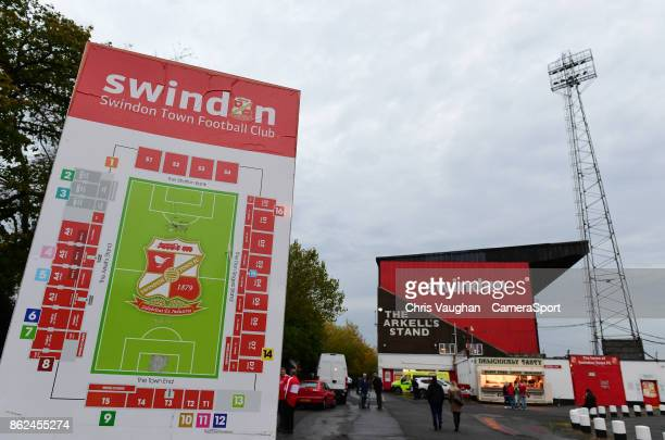 A general view of County Ground home of Swindon Town FC prior to the Sky Bet League Two match between Swindon Town and Lincoln City at County Ground...