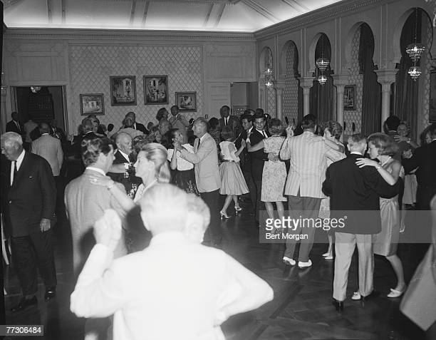 General view of couples as they dance at a party at MarALago Palm Beach Florida 1950s The party was hosted by Marjorie Merriweather Post heiress and...