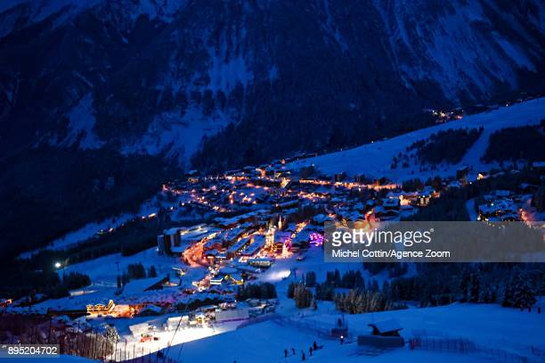 A general view of Courchevel during the Audi FIS Alpine Ski World Cup Women's Giant Slalom on December 19 2017 in Courchevel France