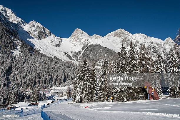 A general view of course at the IBU Biathlon World Cup Antholtz on January 18 2016 in Antholtz Italy