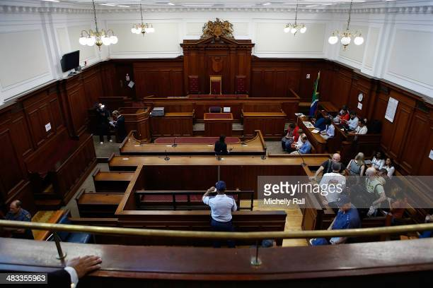 A general view of Court 1 where Shrien Dewani will have his first hearing on April 8 2014 in Cape Town South Africa Dewani arrived at the Western...