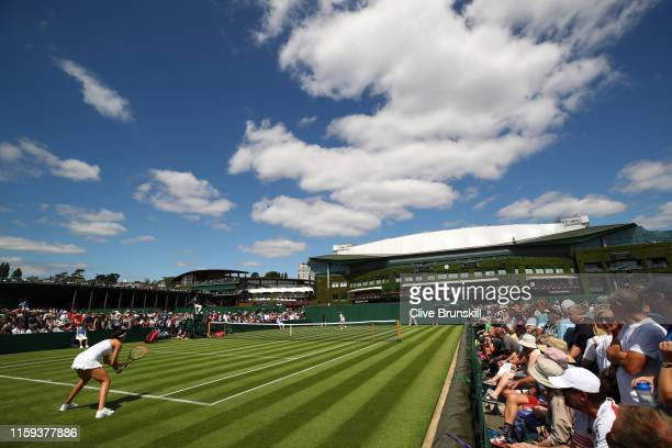 General view of court 10 in the Ladies' Singles first round match between Margarita Gasparyan of Russia and AnnaLena Friedsam of Germany during Day...