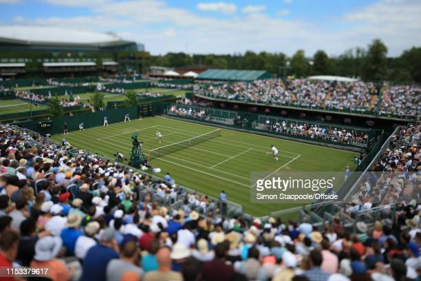 General view of Court 12 as Daniil Medvedev takes on Alexei Popyrin during their Gentlemen's Singles 2nd Round match during Day 3 of The...