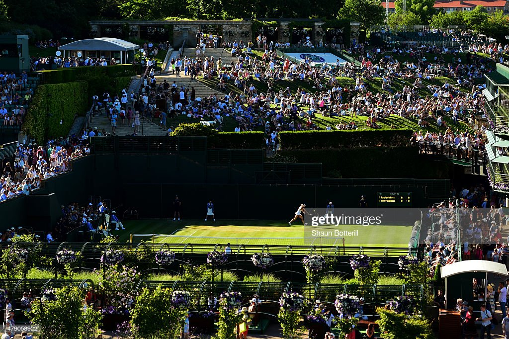 General view of Court 19 during day two of the Wimbledon Lawn Tennis Championships at the All England Lawn Tennis and Croquet Club on June 30, 2015 in London, England.