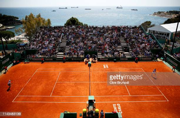 A general view of Court Des Princes as Marco Cecchinato of Italy plays against Guido Pella of Argentina in their third round match during day five of...
