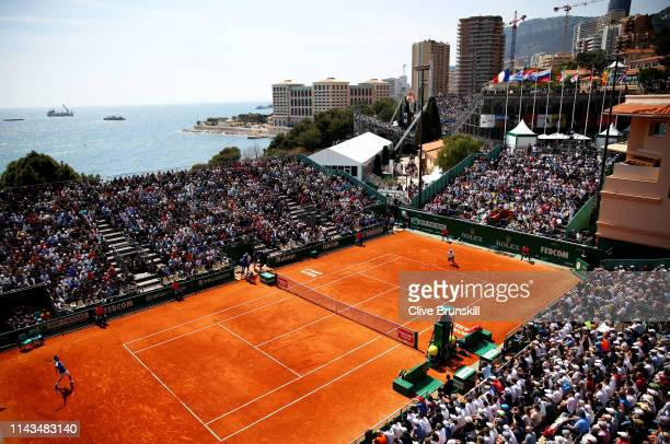 General view of Court Des Princes as Marco Cecchinato of Italy plays against Guido Pella of Argentina in their third round match during day five of...