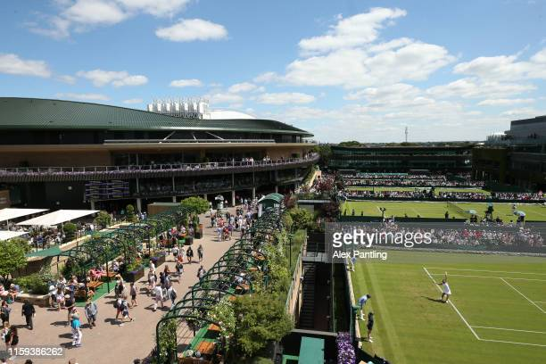 General view of court one and the grounds during Day one of The Championships - Wimbledon 2019 at All England Lawn Tennis and Croquet Club on July...