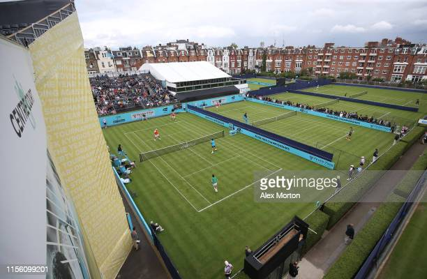 General view of Court One during the qualifying rounds prior to the FeverTree Championships at Queens Club on June 15 2019 in London United Kingdom