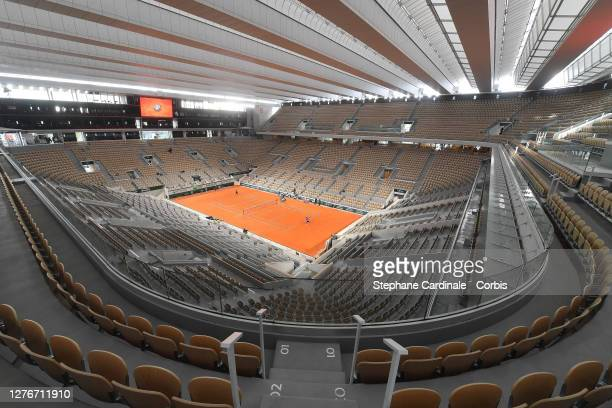 General view of Court Philippe Chatrier at Roland Garros on September 25, 2020 in Paris, France.