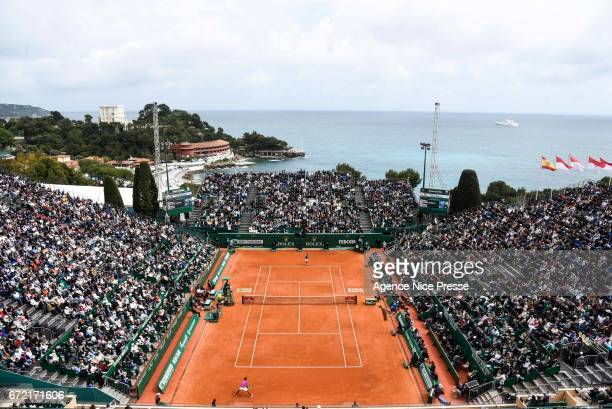 General view of court Rainier III during the Final of the Monte Carlo Rolex Masters 2017 on April 23 2017 in Monaco Monaco