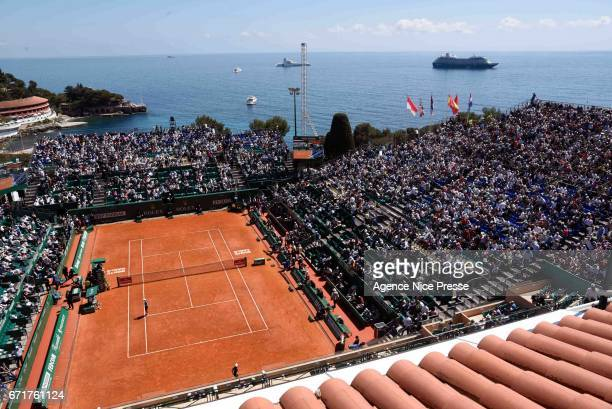 General view of court Rainier III during the Monte Carlo Rolex Masters 2017 on April 22 2017 in Monaco Monaco