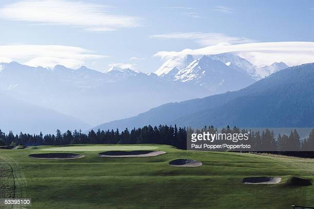 General view of Crans Sur Sierre taken during a photocall held in Crans Montana Switzerland