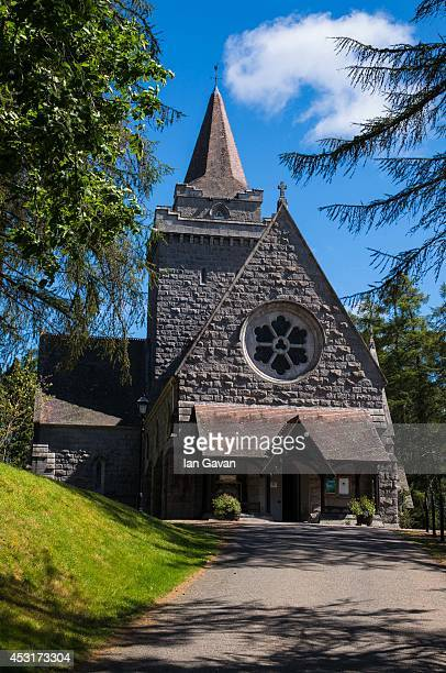 General view of Crathie Kirk Church on August 4, 2014 in Crathie, Aberdeenshire, Scotland. Monday 4th August marks the 100th anniversary of Great...