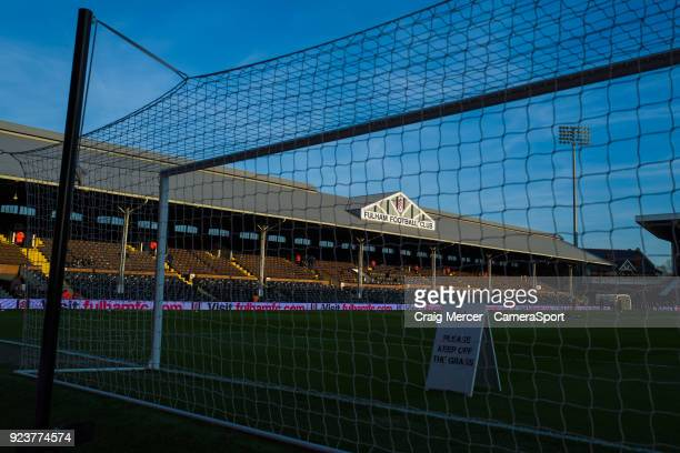 A general view of Craven Cottage home of Fulham FC during the Sky Bet Championship match between Fulham and Wolverhampton Wanderers at Craven Cottage...