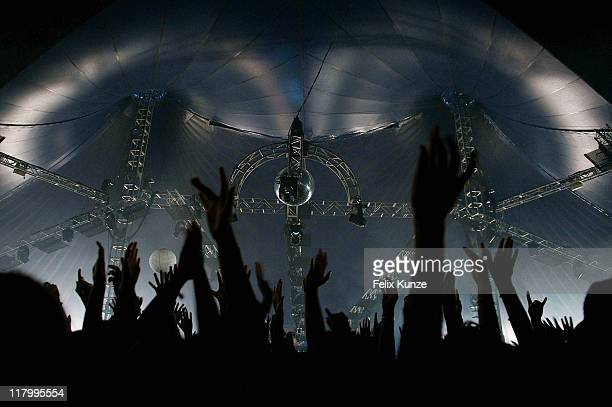 A general view of crowd atmosphere on day three of Roskilde Festival 2011 on July 2 2011 in Roskilde Denmark