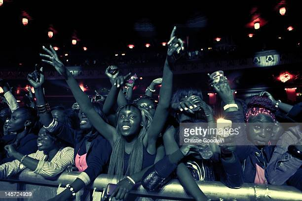 General view of crowd during the concert of Nigerian rapper Wizkid at HMV Hammersmith Apollo on June 4 2012 in London United Kingdom