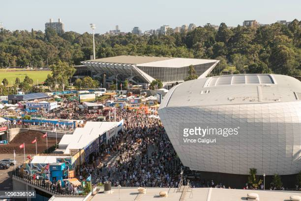 General view of crowds during day six of the 2019 Australian Open at Melbourne Park on January 19 2019 in Melbourne Australia