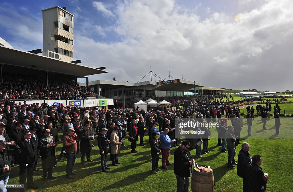 General view of crowds during Galleywood Day at Warrnambool Racing Club on May 6, 2015 in Warrnambool, Australia.