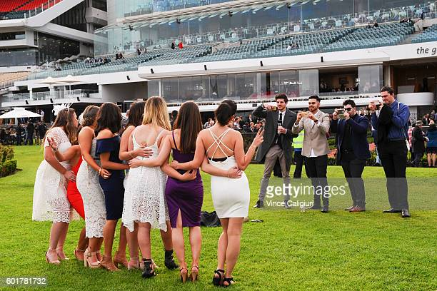 General view of crowds during the Sofitel ladies day out meeting during Melbourne Racing at Flemington Racecourse on September 10 2016 in Melbourne...