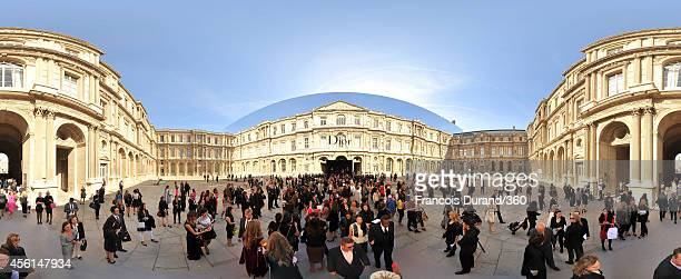 A general view of crowds outside the Christian Dior show as part of the Paris Fashion Week Womenswear Spring/Summer 2015 on September 26 2014 in...