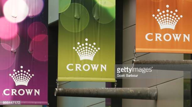 A general view of Crown Towers during the Crown Resorts annual general meeting on October 26 2017 in Melbourne Australia The AGM comes just a week...