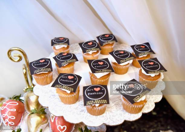 A general view of cupcakes at Los Angeles Fashion Week Powered by Art Hearts Fashion LAFW FW/18 10th Season Anniversary Backstage and Front Row Day 5...