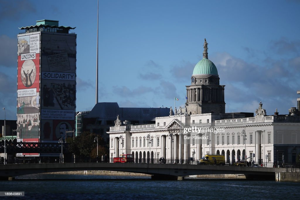 A general view of Custom House on October 23, 2013 in Dublin, Ireland. The 18th century building is home to the Department of the Environment, Community and Local Government. Dublin is the capital city of The Republic of Ireland situated in the province of Leinster at the mouth of the River Liffey. The greater Dublin area has a population of around 1.5 Million people.