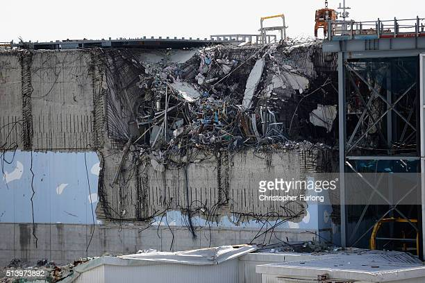 A general view of damage to No 3 reactor building at Fukushima Daiichi nuclear power plant Five years on the decontamination and decommissioning...