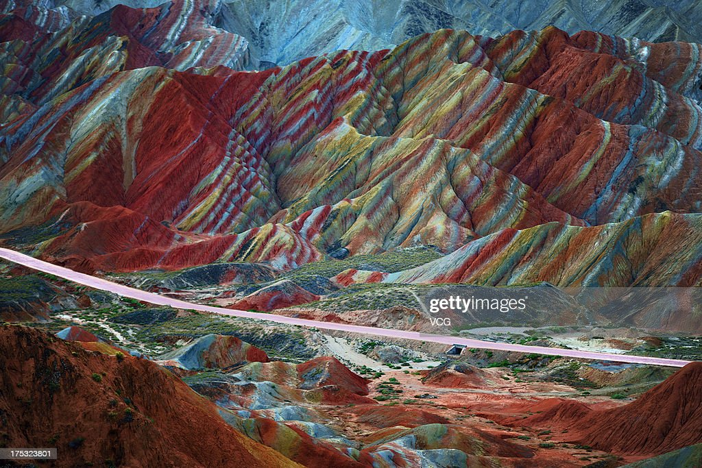 Danxia Landform Recognized As World Natural Heritage : ニュース写真