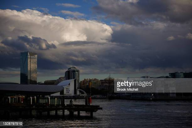 General view of Darling Harbour on July 15, 2021 in Sydney, Australia. Lockdown restrictions have been extended for at least a further two weeks as...