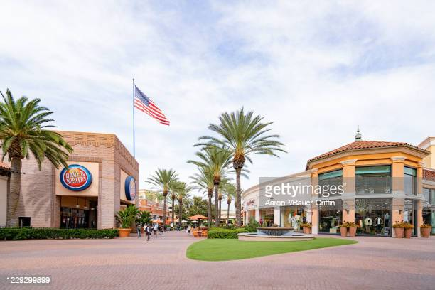General view of Dave & Buster's at the Irvine Spectrum Center shopping mall on October 26, 2020 in Irvine, California.