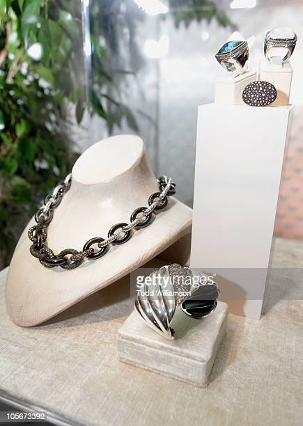 A general view of David Yurman jewelry at ELLE's 17th Annual Women In Hollywood Tribute at The Four Seasons Hotel on October 18 2010 in Beverly Hills...