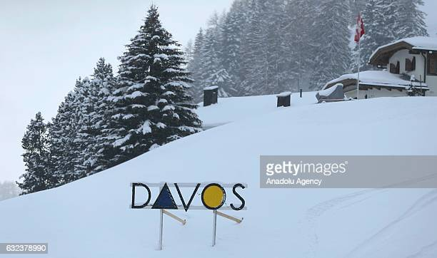 A general view of Davos where 'World Economic Forum' took place on January in Davos Switzerland on January 22 2017