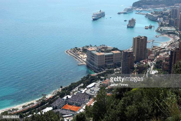 General view of day five of the Rolex Monte-Carlo Masters at Monte-Carlo Sporting Club on April 19, 2018 in Monte-Carlo, Monaco.