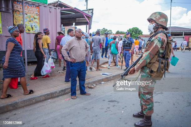 General view of Day One of national lockdown on March 27, 2020 in Alexandra, South Africa, According to media reports, South Africa?s lockdown is...