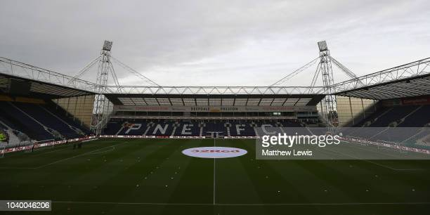 25th September 2018 Deepdale Preston England Carabao football third round Preston North End versus Middlesbrough Paddy McNair of Middlesbrough...