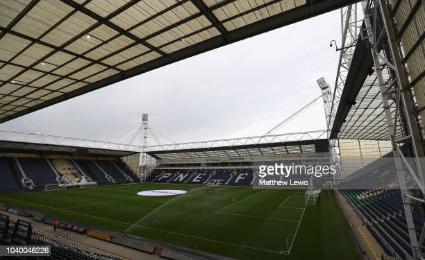 A general view of Deepdale ahead of the Carabao Cup Third Round match between Preston North End and Middlesbrough at Deepdale on September 25 2018 in...