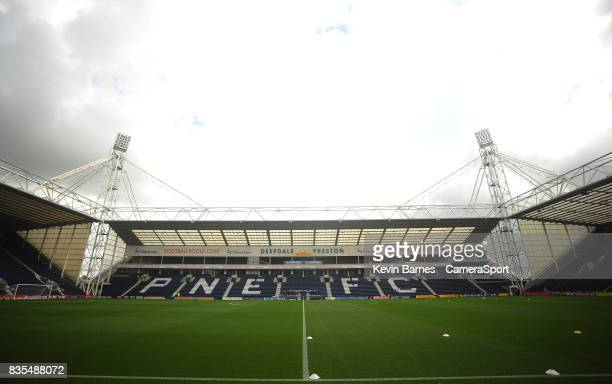 A general view of Deepdale home of Preston North End FC during the Sky Bet Championship match between Preston North End and Reading at Deepdale on...