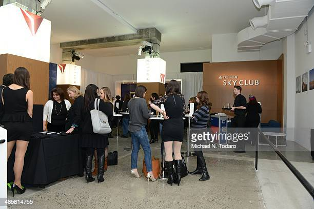 General View of Delta Air Lines Opens Popup Sky Club at The Diageo Liquid Cellar Day 1 on January 29 2014 in New York City