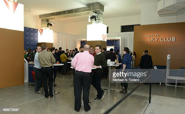 General View of Delta Air Lines Popup Sky Club At The Diageo Liquid Cellar on January 29 2014 in New York City
