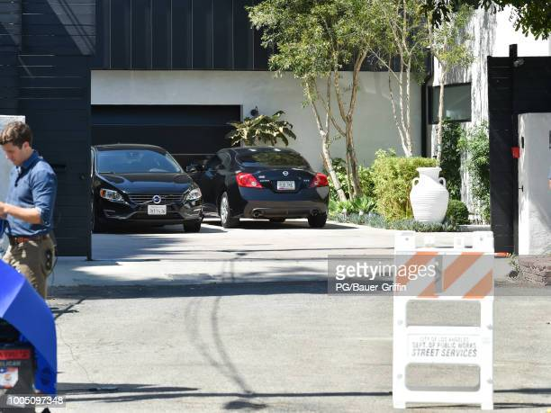 General view of Demi Lovato's house on July 24 2018 in Los Angeles California The pop singer is being treated in a Los Angeles hospital after a...