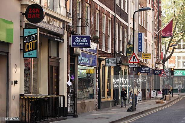 A general view of Denmark Street on April 20 2011 in London England Denmark Street in the Soho area of central London traces its musical connections...