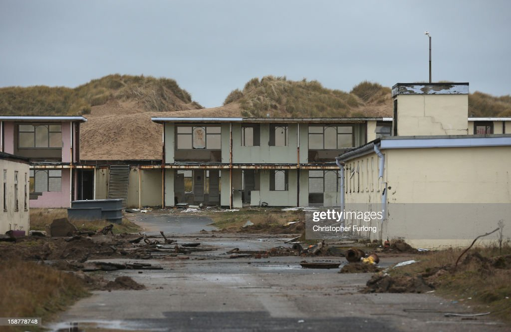 A general view of derelict holiday chalets as they await demolition at Pontins Holiday Camp on December 28, 2012 in Blackpool, England. The Pontin's holiday park in Blackpool is scheduled for demolition after closing in 2009 due to falling visitor numbers, with the land being earmarked for a housing project. The Pontin's British holiday business was originally founded in 1946 by Fred Pontin, providing chalet style holiday accommodation and on site entertainment to visitors. Millions of Britons visited Pontins in it's heyday, being entertained by its famous Blue Coat hosts.